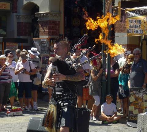The World's only Punk Rock Flame Throwing Piper © Rober Garwood 2013