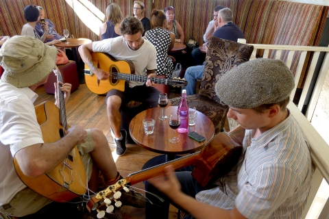 Jamming at Whisper's Wine Bar in Essex Street.© Roger Garwood 2013